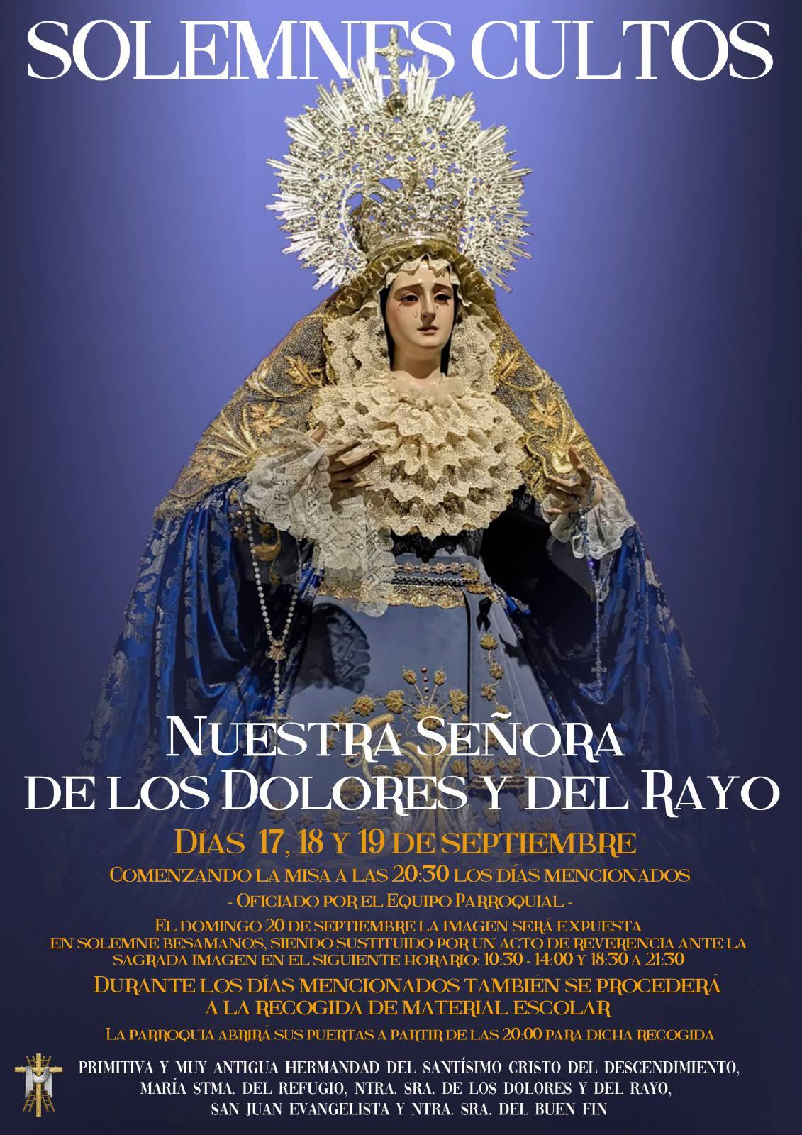 Cultos Virgen del Rayo 2020