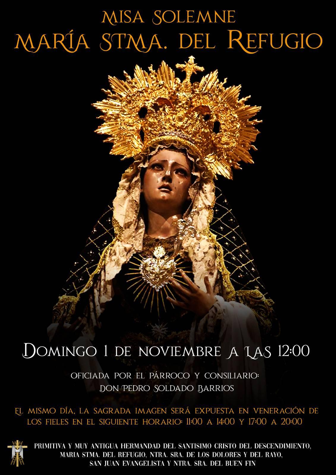 Cultos Virgen del Refugio Córdoba 2020